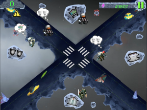 control your robots in droid crosser