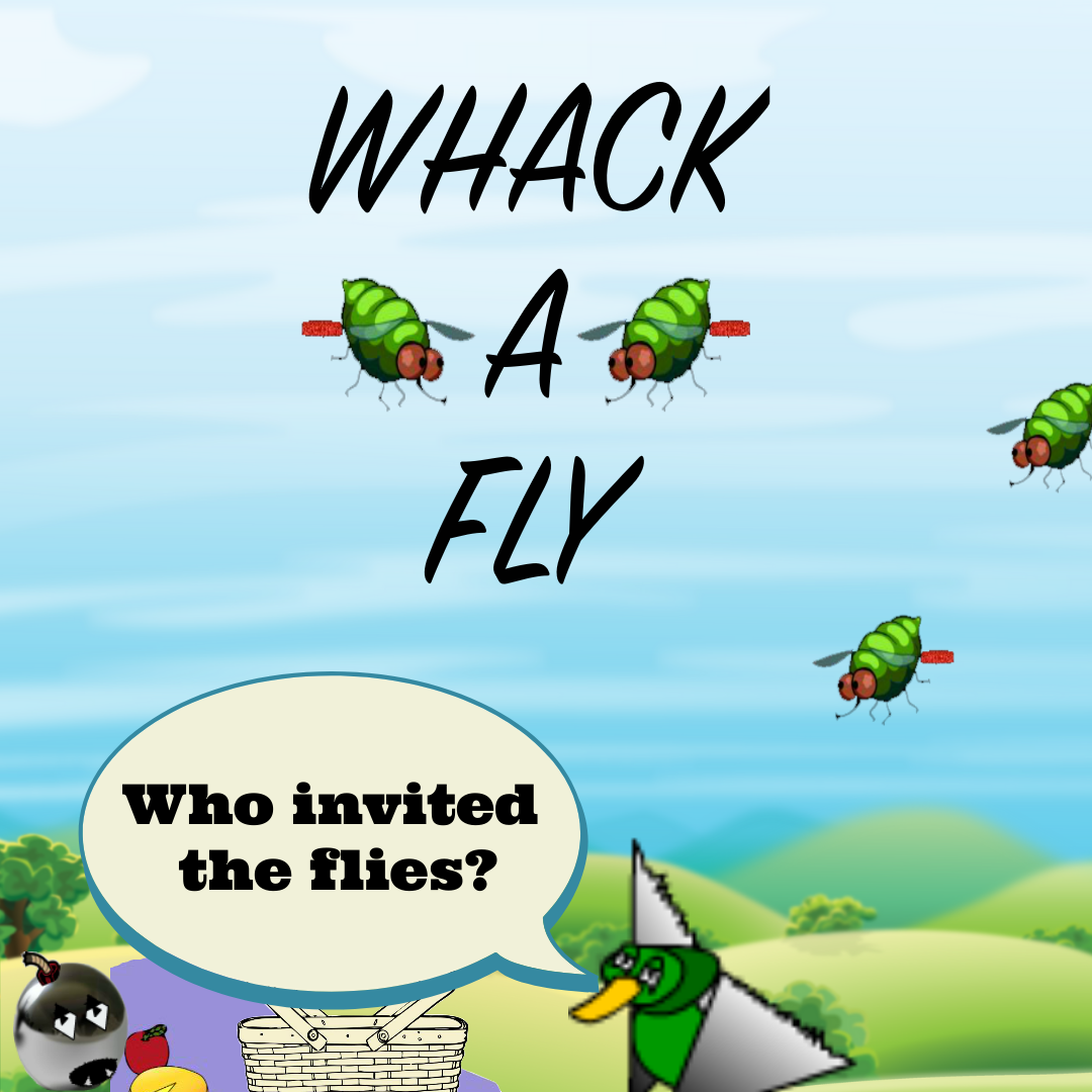 flies invading a picnic